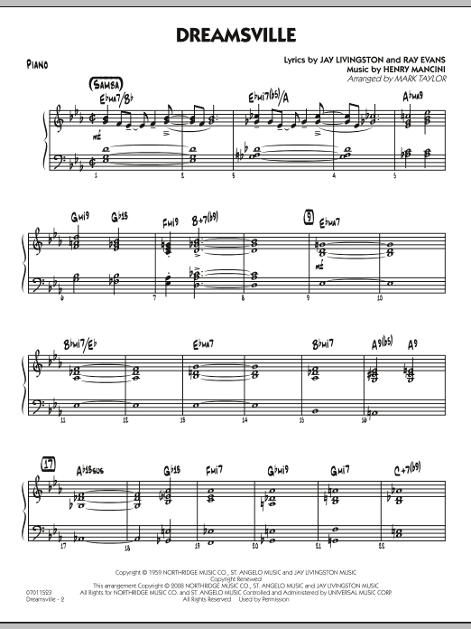 page one of Dreamsville - PianoASALTTEXT