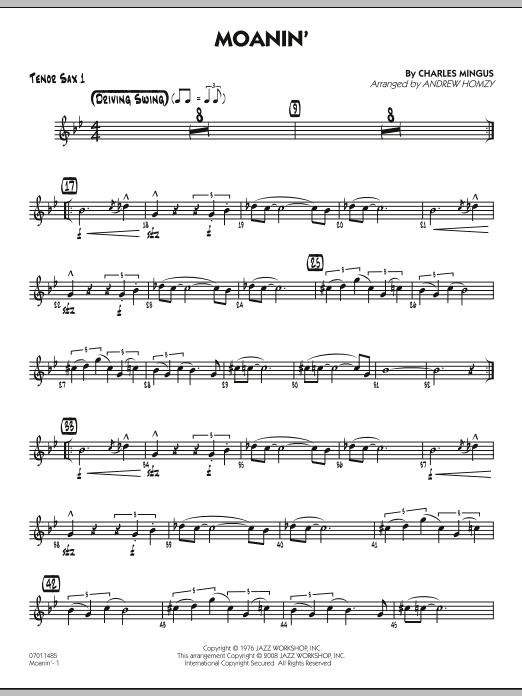 Moanin' - Tenor Sax 1 (Jazz Ensemble)