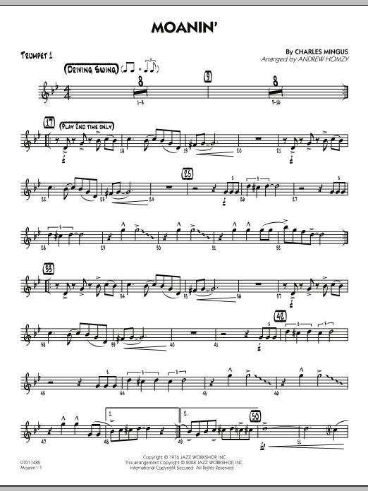 Moanin' - Trumpet 1 (Jazz Ensemble)