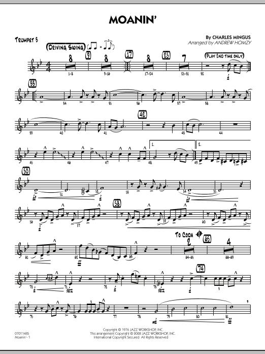Moanin' - Trumpet 3 (Jazz Ensemble)