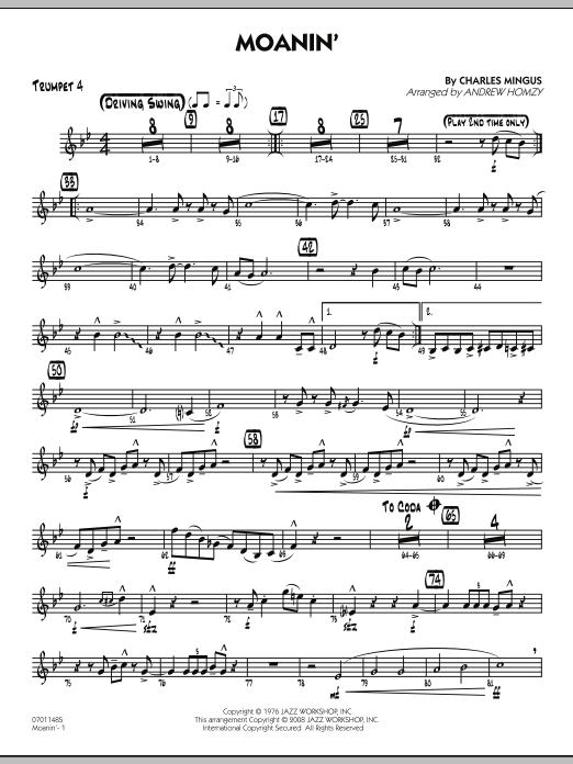 Moanin' - Trumpet 4 (Jazz Ensemble)