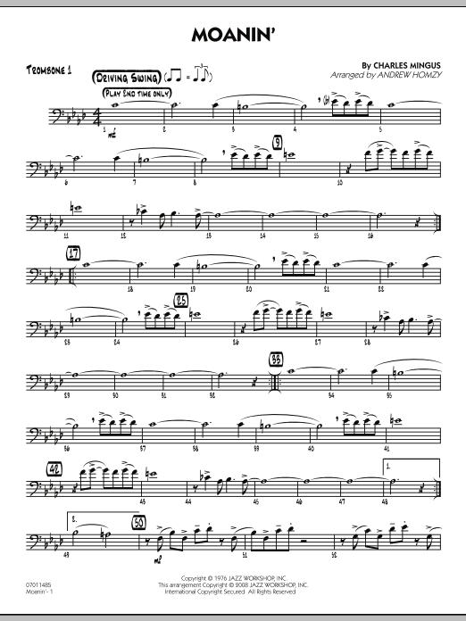 Moanin' - Trombone 1 (Jazz Ensemble)