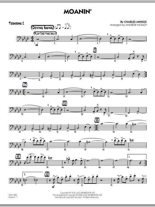 Moanin' - Trombone 2 (Jazz Ensemble)
