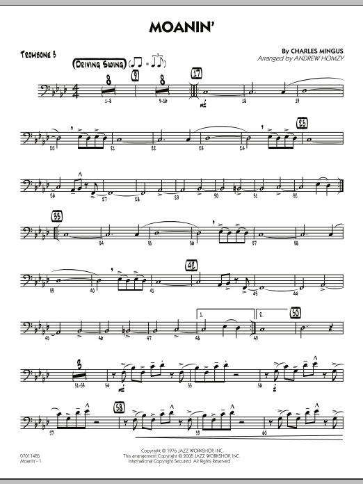 Moanin' - Trombone 3 (Jazz Ensemble)