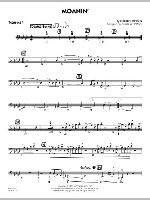 Moanin' - Trombone 4 (Jazz Ensemble)