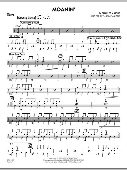 Moanin' - Drums (Jazz Ensemble)