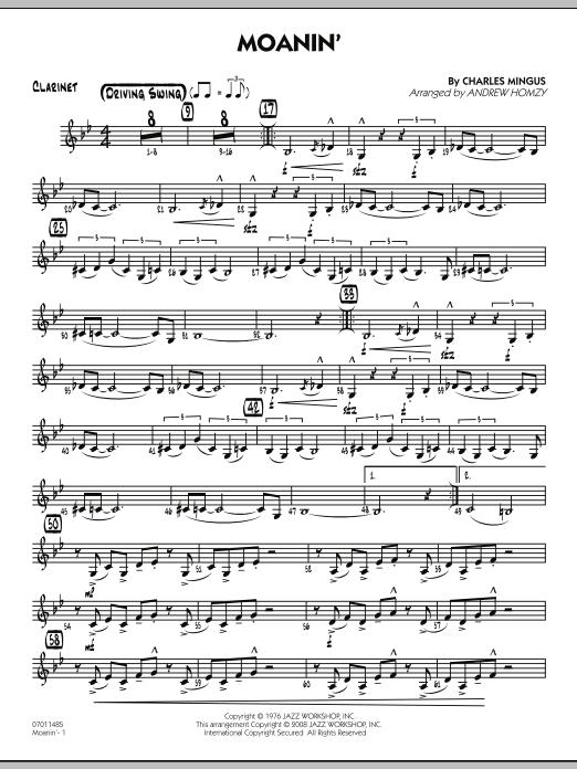 Moanin' - Clarinet (Jazz Ensemble)