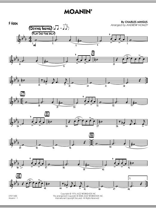 Moanin' - F Horn (Jazz Ensemble)