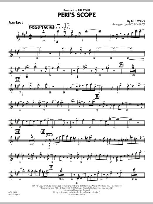 Peri's Scope - Alto Sax 1 Sheet Music