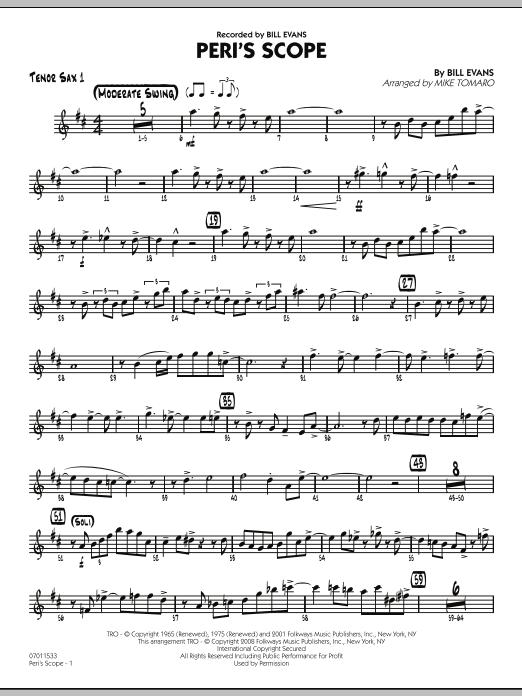 Peri's Scope - Tenor Sax 1 (Jazz Ensemble)
