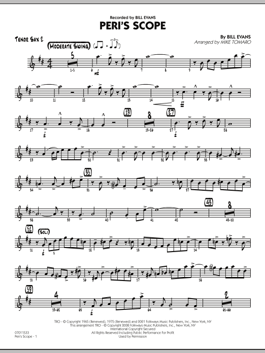 Peri's Scope - Tenor Sax 2 (Jazz Ensemble)