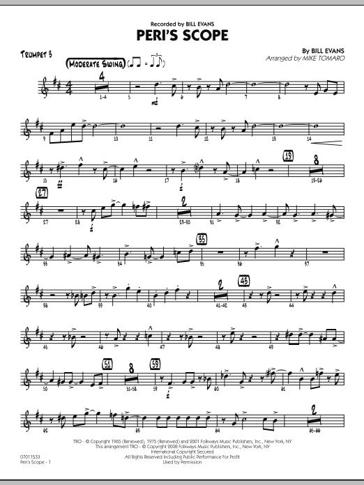 Peri's Scope - Trumpet 3 Sheet Music