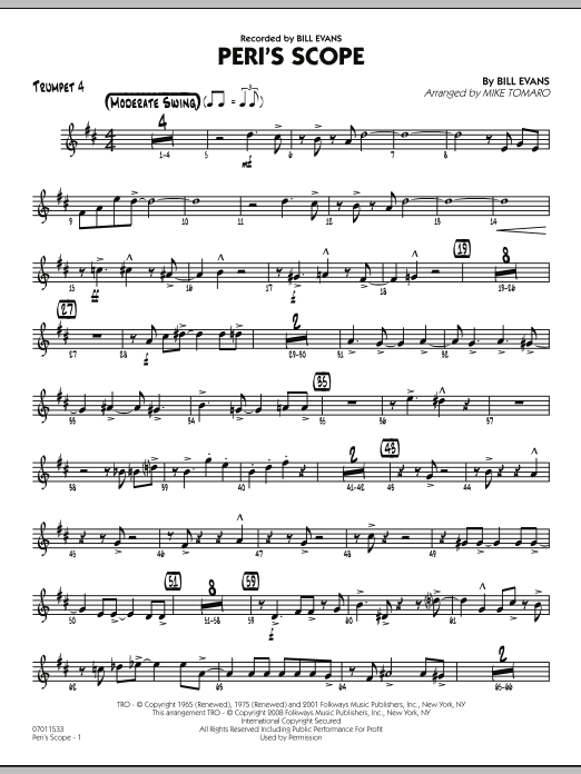 Peri's Scope - Trumpet 4 (Jazz Ensemble)