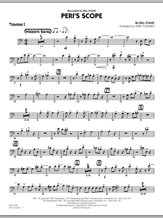 Peri's Scope - Trombone 2 (Jazz Ensemble)