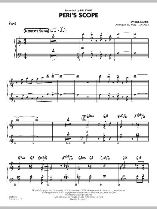 Peri's Scope - Piano (Jazz Ensemble)
