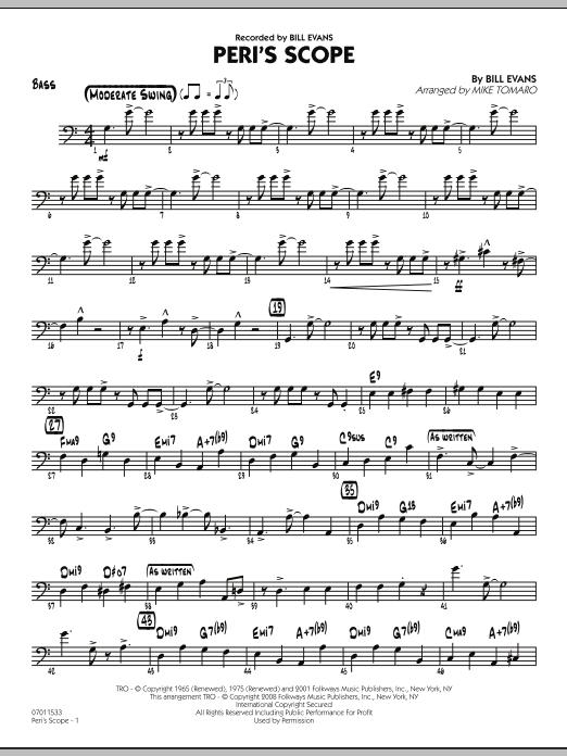 Peri's Scope - Bass by Mike Tomaro, Bill Evans, Bill Evans - Hal Leonard -  Prima Music