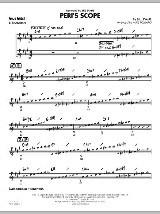Peri's Scope - Eb Solo Sheet Sheet Music
