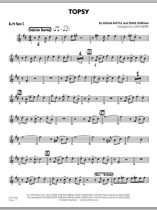 Topsy - Alto Sax 2 (Jazz Ensemble)