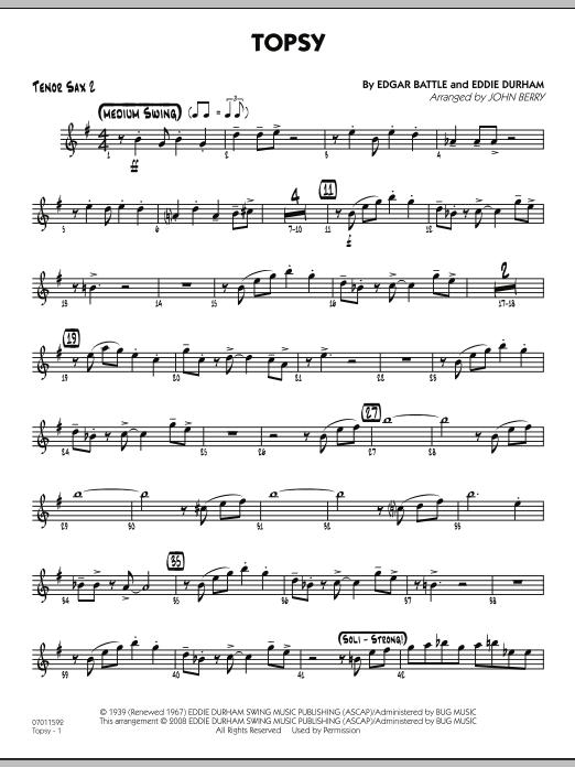 Topsy - Tenor Sax 2 (Jazz Ensemble)