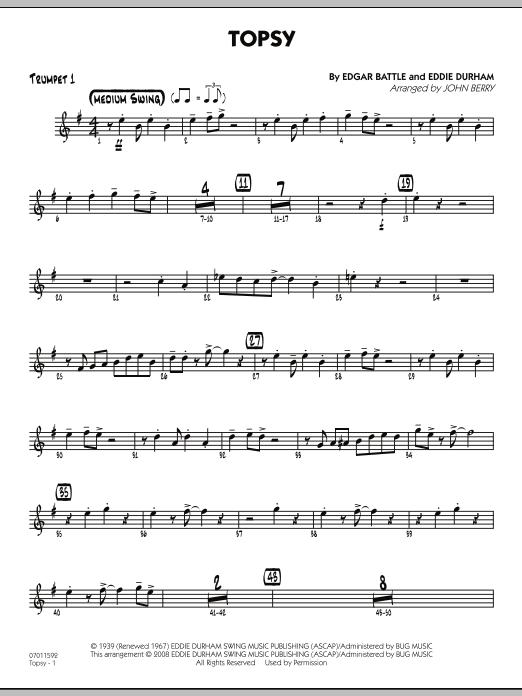 Topsy - Trumpet 1 (Jazz Ensemble)