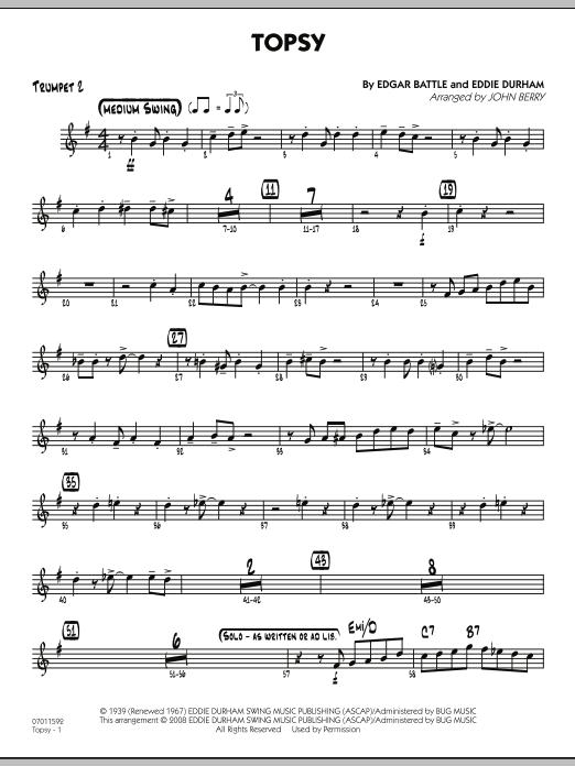 Topsy - Trumpet 2 (Jazz Ensemble)