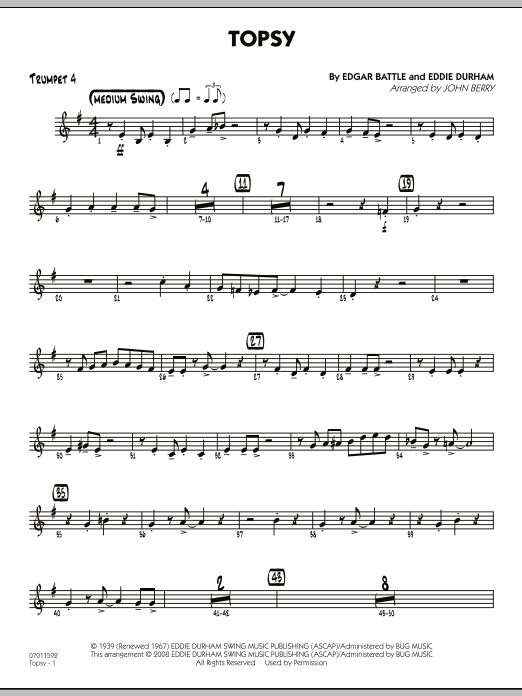 Topsy - Trumpet 4 (Jazz Ensemble)