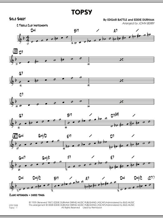 Topsy - Solo Sheet (Jazz Ensemble)