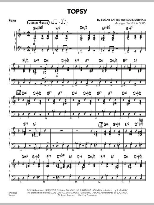 Topsy - Piano (Jazz Ensemble)