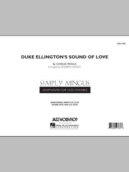 Duke Ellington's Sound of Love (COMPLETE) sheet music for jazz band by Andrew Homzy and Charles Mingus. Score Image Preview.