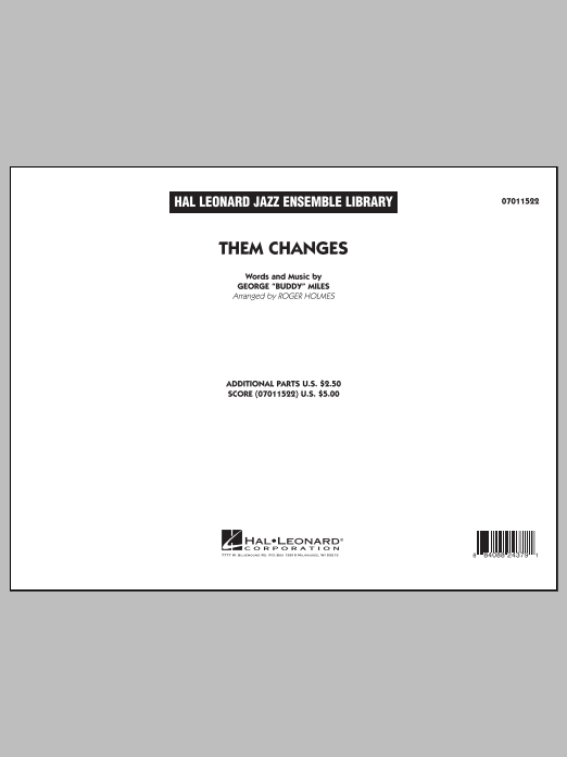 Them Changes (COMPLETE) sheet music for jazz band by Roger Holmes. Score Image Preview.