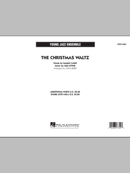 The Christmas Waltz (COMPLETE) sheet music for jazz band by John Berry, Jule Styne and Sammy Cahn. Score Image Preview.
