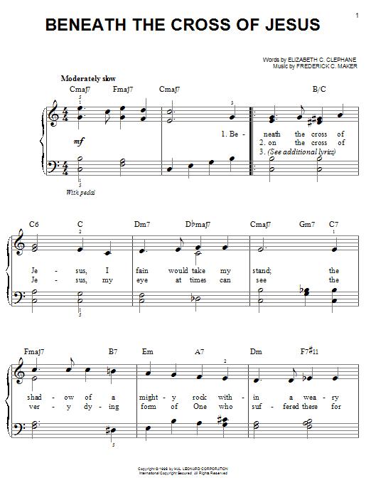 Partition piano Beneath The Cross Of Jesus de Elizabeth Cecilia Dou Clephane - Piano Facile