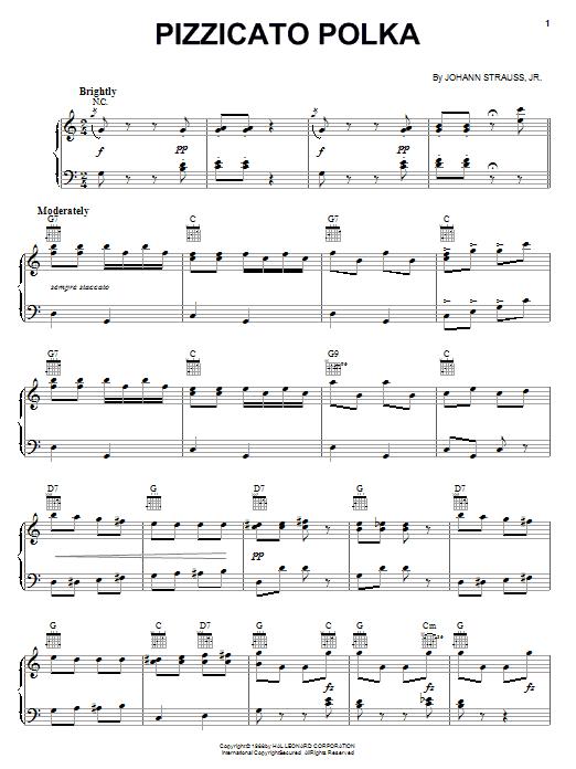 Partition piano Pizzicato Polka de Leo Delibes - Piano Solo