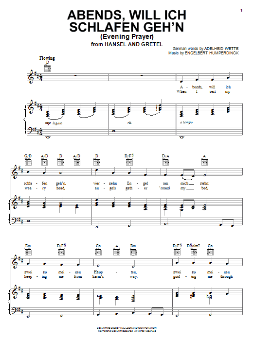 Evening Prayer Sheet Music