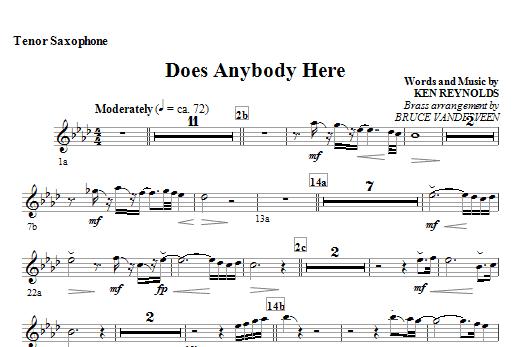Does Anybody Here - Tenor Sax Sheet Music