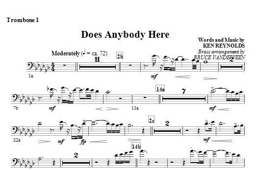 Does Anybody Here - Trombone 1 Sheet Music