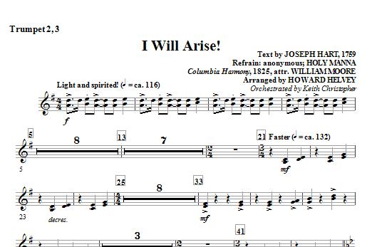 I Will Arise! - Trumpet 2, 3 (Choir Instrumental Pak)