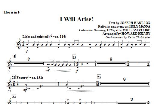 I Will Arise! - Horn in F (Choir Instrumental Pak)