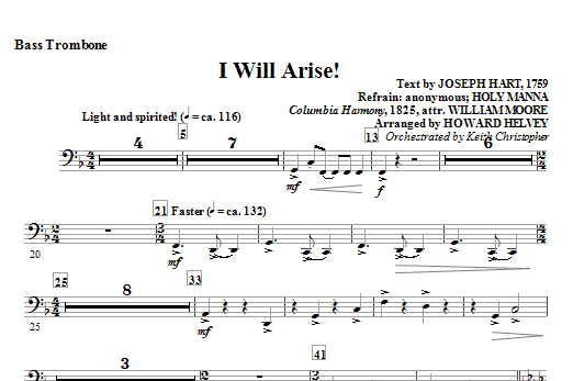 I Will Arise! - Bass Trombone Sheet Music