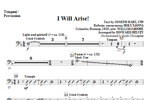 I Will Arise! - Timpani / Percussion (Choir Instrumental Pak)