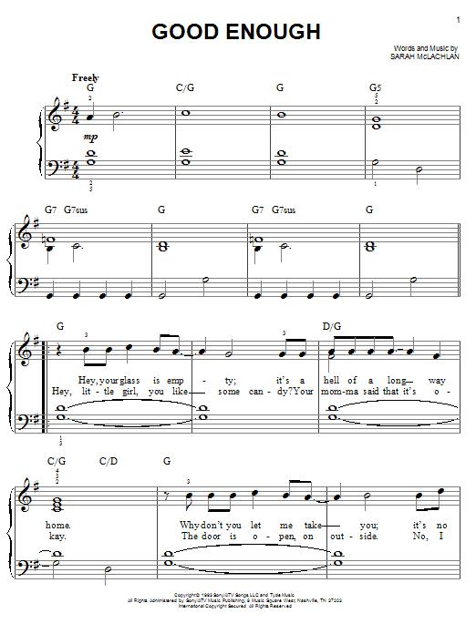 Good Enough (Easy Piano)