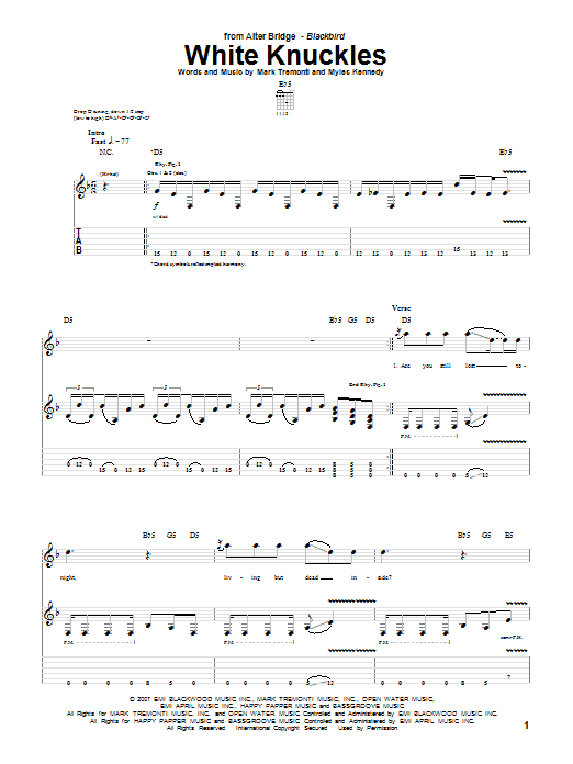 White Knuckles Sheet Music