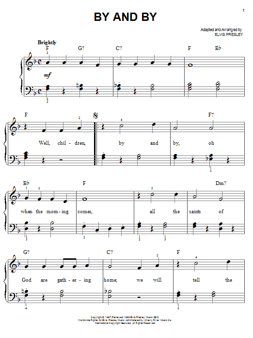 By And By Sheet Music