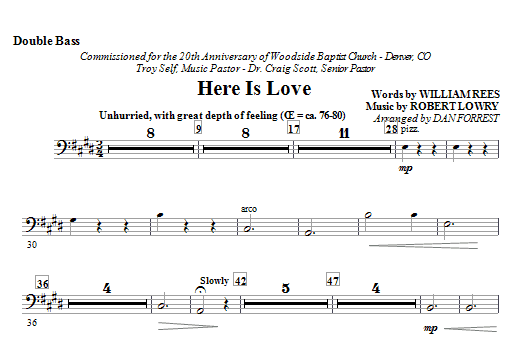 Here Is Love - Double Bass Sheet Music