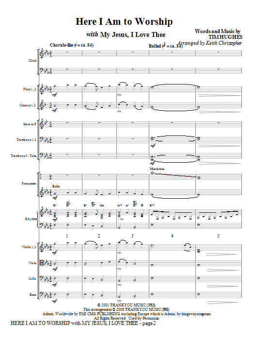 Here I Am To Worship with My Jesus, I Love Thee - Full Score (Choir Instrumental Pak)
