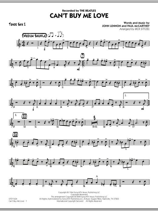 Can't Buy Me Love - Tenor Sax 2 Sheet Music