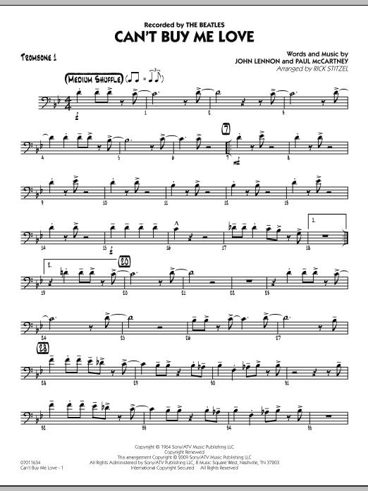 Can't Buy Me Love - Trombone 1 Sheet Music