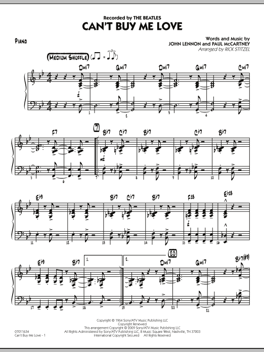 Can't Buy Me Love - Piano Sheet Music