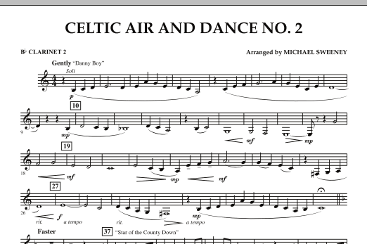 Celtic Air and Dance No. 2 - Bb Clarinet 2 (Concert Band)