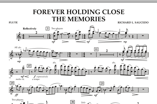 Forever Holding Close the Memories - Flute (Concert Band)